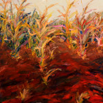 """Corn Field"" (56"" x 44"", Oil on Canvas, $3500.00)"