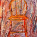 """Hot Seat"" (54"" x 46"", Oil on Canvas, $2800.00)"