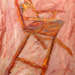 """Director's Chair"" (58"" x 50"", Oil on Canvas, $3000.00)"