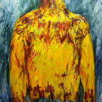 """Yellow Top"" (60"" x 52"" Oil on Canvas, $3500.00)"