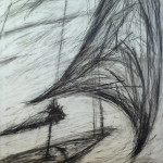 "Original Charcoal Study of ""Wind Swept"" (EB4) (50"" x 39"" Charcoal, $1500.00)"