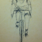 """Cyclist"" (26"" x 20"" Graphite on Paper, $200.00)"