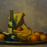 """Still Life"" 1931. Oil on Board, 13"" x 18"""