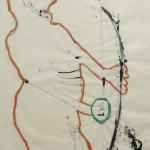 "Abstract Figure #1 (1982). 42.5"" x 32.5"" Mixed Media on Paper $1500.00"