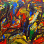 """Fiery Landscape"" 1993 (16"" x 20"" Oil on Canvas, $900.00)"