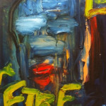 """Etre"" 2008 (14"" x 11"" Oil on Canvas, $600.00)"