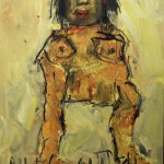 """2010  """"Pin Up Girl"""" Oil on board  48x38  $2500"""