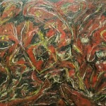 "1991 ""Subordination of Inner Fires""  o/c  36x48 $3200"