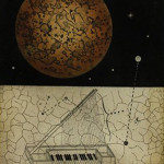 """Moon and Celestial Piano"" (Aquatint etching, 27.5"" x 23"") $350.00"