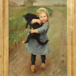"""Dutch Girl Holding a Cat' July 1912 (Oil on Canvas, 31.5"" x 22.5"") $1500.00"