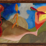 "Impressionist Scene, 1938 (Oil on Canvas, 16"" x 30"")"