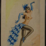 """Folies Bergere"" Paris, 1957 (Watercolor, 13"" x 16.5"")"