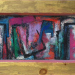 """Piazza"" (8"" x 22"" Oil on Board, $800.00)"