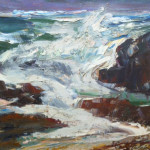 """Breaking Waves"" (22"" x 28"" Oil on Canvas, $350.00)"