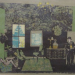 """The Interior (with Stan & Ollie)"" (Colored Lithograph on Paper, 23/40, Kulicke Frame: 21.25"" x 30.5"") $300.00"