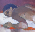 """Reclining Nude"" (14.5"" x 23.5"" Oil on Board, $450.00)"