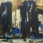 """Port Side in Abstract"" (24"" x 48"" Oil on Canvas, $2100.00)"