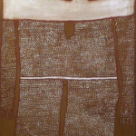 "Aboriginal Figure (48"" x 26"" Oil on Canvas, $1800)"