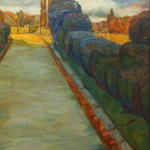 """Via Appia"" 1930 (12.5"" x 8"" Oil on Board, $250.00)"