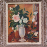 """Flowers in a White Vase"" (16"" x 13"" Oil on Board, $650.00)"