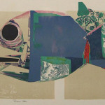 ''Poisson Bleu'' (Color lithograph, 28.75'' x 22.5'')