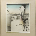 "Surreal Scene with Two Figures (Lithograph, pencil signed lower right, edition 776/1000, overall (with frame): 30.25"" x 30.75"")"